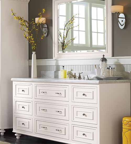Beckwith Vanity Pure White Opaque