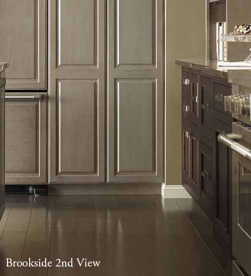 Brookside Kitchen Pantry Cabinet with Pumice Staining