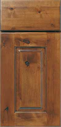 Lodge Door Alder Species Sage Stain