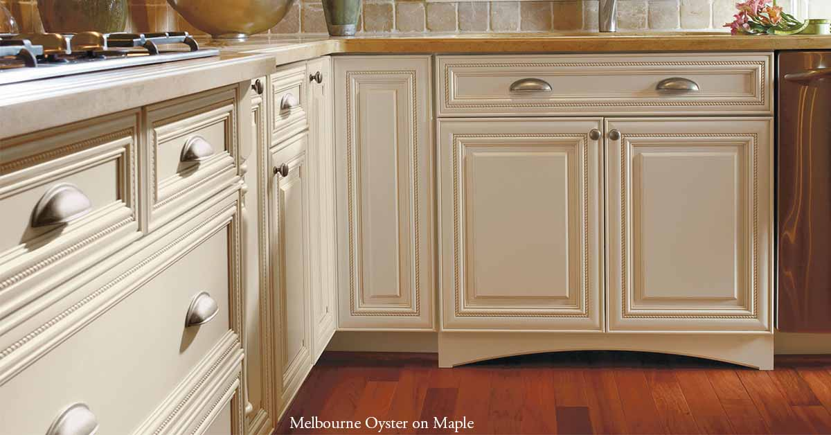 Melborne Cabinets in Maple with Oster Opaque
