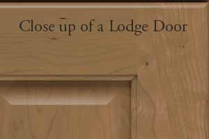 Close up of Lodge Door Profile