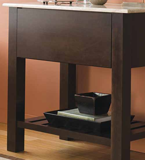Vail Free Standing Living Room Cabinet with Truffle Stain