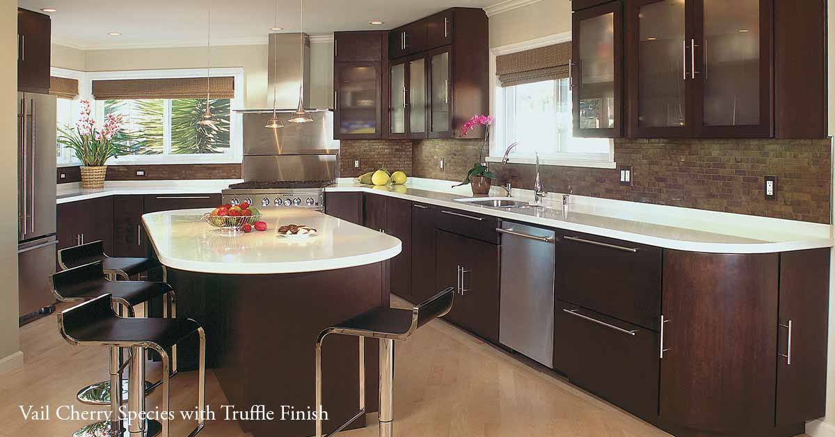 Vail Kitchen Cabinets with Truffle Stain on Cherry Wood